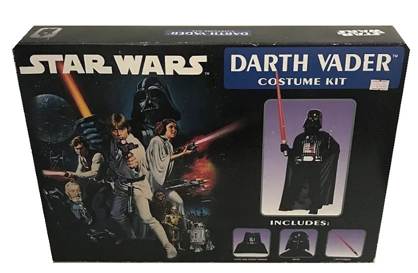 1996 Star Wars Darth Vader Costume Kit by Rubie's Costume - Open Box
