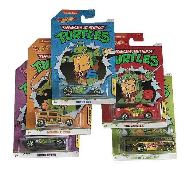 Hot Wheels Nickelodeon Teenage Mutant Ninja Turtles Series Set of 5