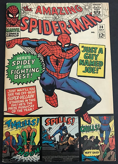 Amazing Spider-Man (Marvel) #38 VF+ [Last Steve Ditko.]