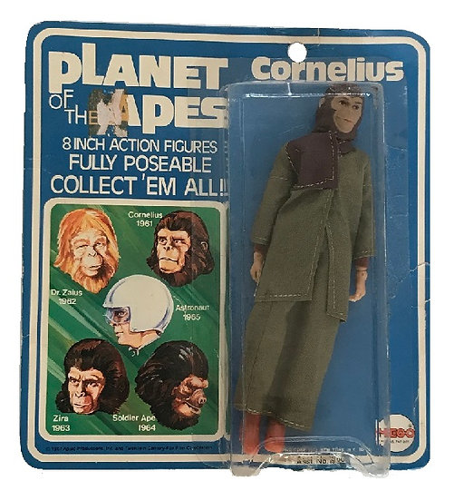 1967 Planet Of The Apes Cornelius Figure By Mego [Bubble Lift Still Scaled]