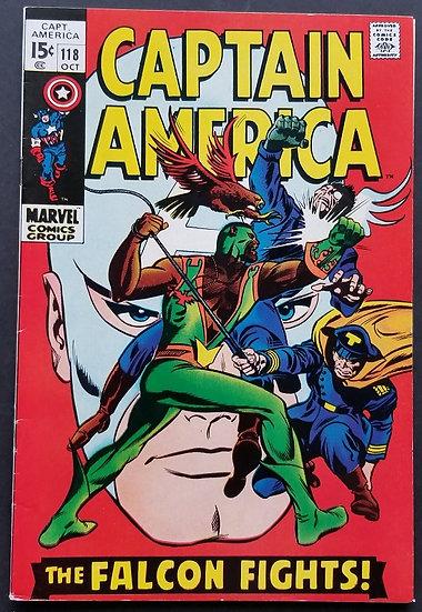 Captain America 118 VF/VF+ . 2nd appearance Falcon.