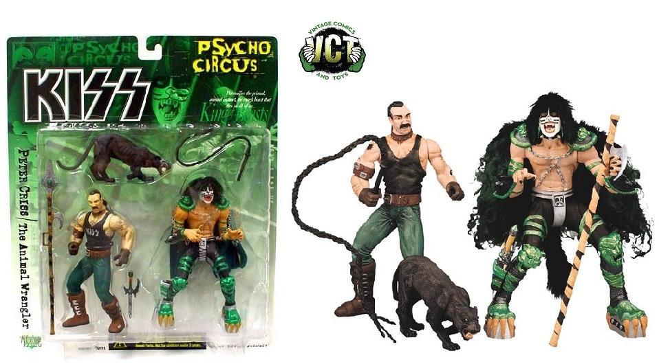 McFarlane Toys KISS Psycho Circus Peter Criss & The Animal Wrangler Figure