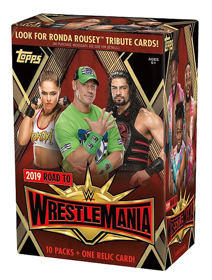 2019 WWE Road To Wrestlemania 10 Packs Value Box