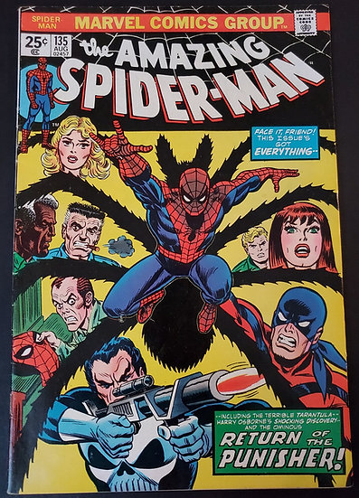 Amazing Spider-Man 135 FN/VF 2nd Appearance of The Punisher