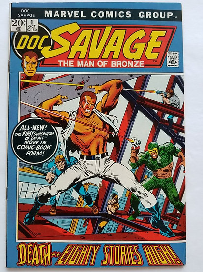 Doc Savage (1972 Marvel Comic) #1 VF+ 1st Modern Appearance of Doc Savage