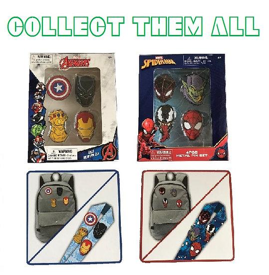 Marvel 4 Pcs Metal Pin Sets