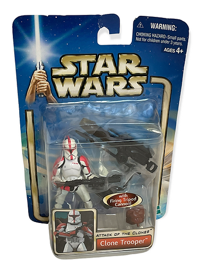 2002 Star Wars Attack Of The Clones CloneTrooper Action Figure