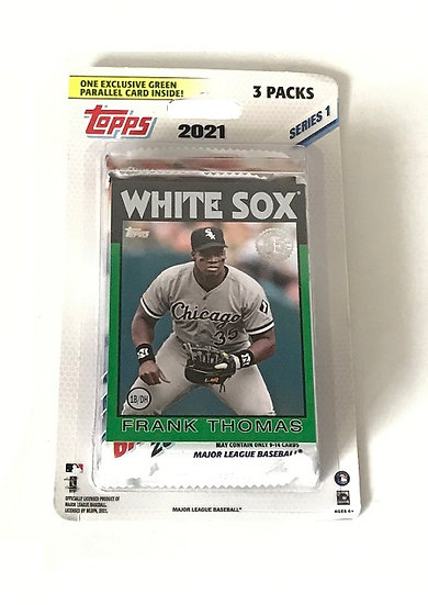 2021 Topps Series 1 Blister Hanger 3 Cello Packs With Green Frank Thomas