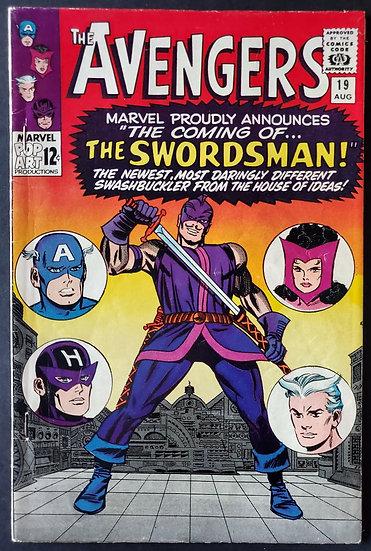 Avengers (1963 1st Series) #19 FN/VR 1st Appearance of the Swordsman