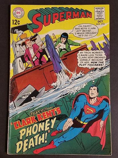 Superman (1939 1st Series) #210 FN