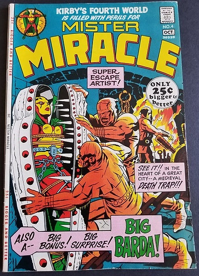 Mister Miracle 4 VG+ 1st Appearance of Big Barda.