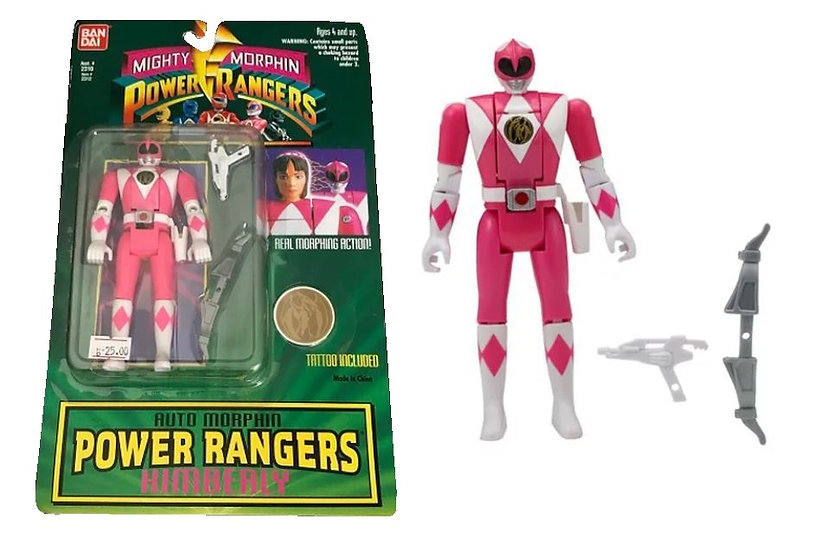 Bandai Mighty Morphin Power Rangers Auto Morphine Power Rangers  Kimberly Action