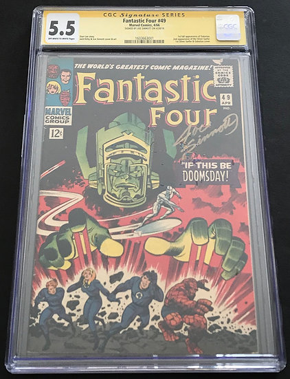Fantastic Four 49CGC SS Sinnott 5.5 Off White To White Pages