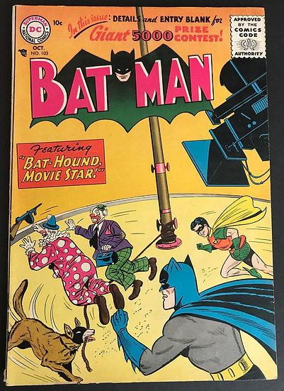Batman #103 GD/VG [Chips Back Cover]