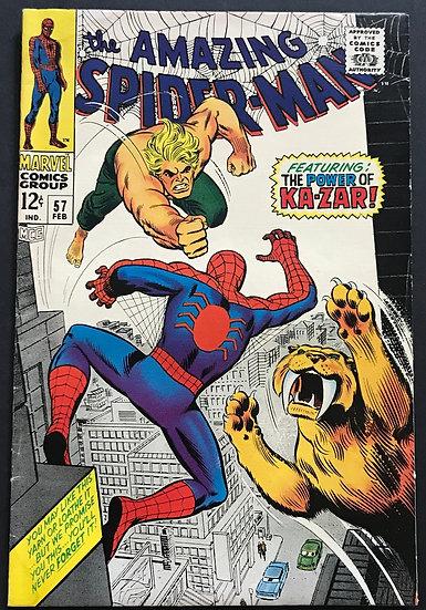 Amazing Spider-Man (Marvel) #57 VG+ [Ka-Zar App]