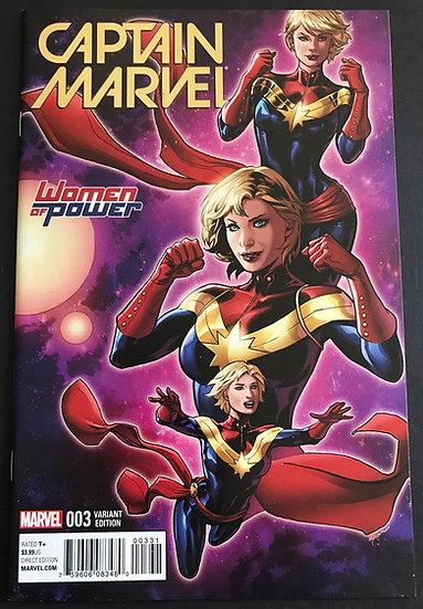 Captain Marvel (2016) #3C VF/NM [Women Of Power Variant]