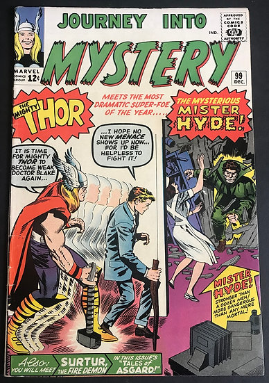 Thor (1962-1996 1st Series Journey Into Mystery) #99 FN/VF 1st Mister Hyde