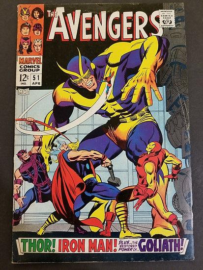 Avengers (1963 1st Series) #51 FN