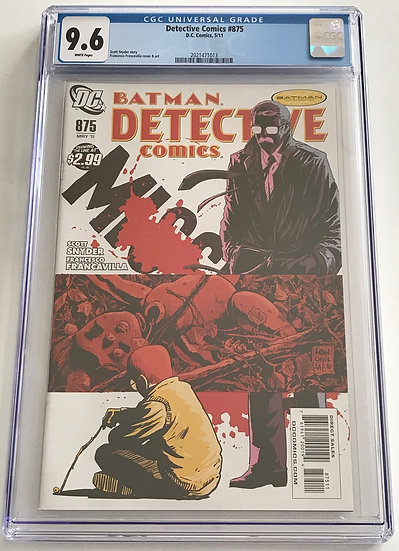 Detective Comics (DC) #875 CGC 9.6 White Pages