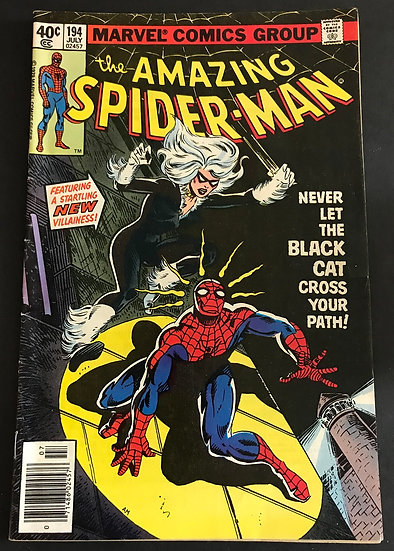 Amazing Spider-Man 194 VG [Tape Residue]