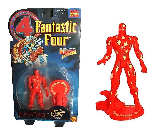 1994 Marvel  Fantastic Four 4 Human Torch  5 inch Action Figure Toy Biz