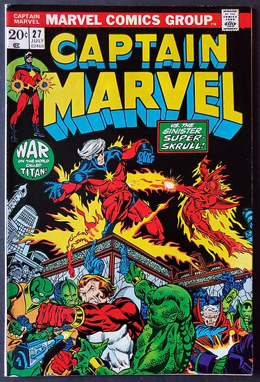 Captain Marvel 27 VF+ 1st Appearance of Death