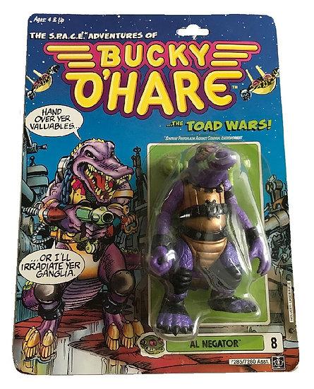 1990 Bucky O'Hare Al Negator #8 By Hasbro [Cracked Bubble]