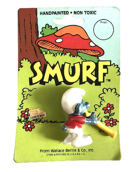 1982 Handpainted Smurf Collectible Toy By Wallace Berrie & Co
