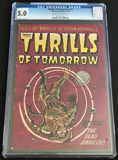 Thrills of Tomorrow (Harvey) #18 CGC 5.0 Off-White To White Pages