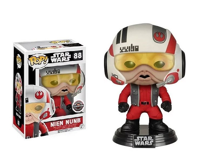 Funko Pop Star Wars Nien Nunb 88 Game Stop Exclusive