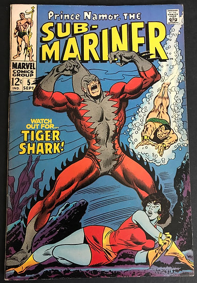 Sub-Mariner (1968 1st Series) #5 VF- [1st Appearance of Tiger Shark]