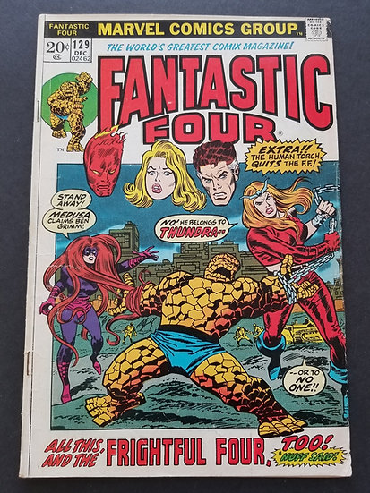 Fantastic Four (1961 1st Series) #129 VG [1st Appearance of Thundra.]