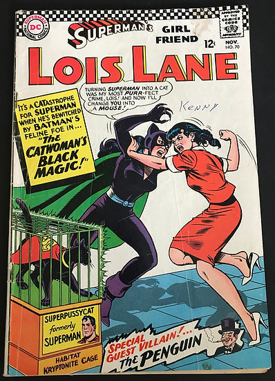 Superman's Girlfriend Lois Lane (1958) #70 GD/VG [Writing Front]