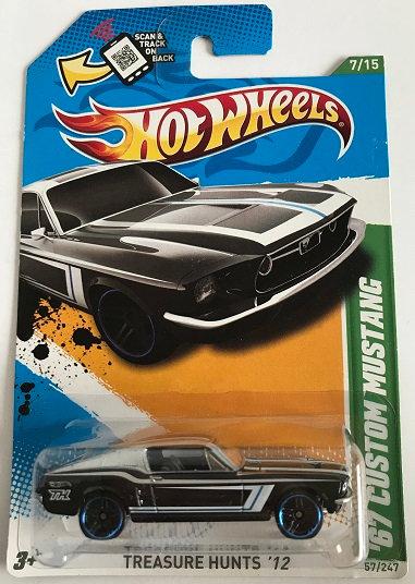 Hot Wheels Treasure Hunts 12 '67 Custom Mustang - 57/247 New Sealed12