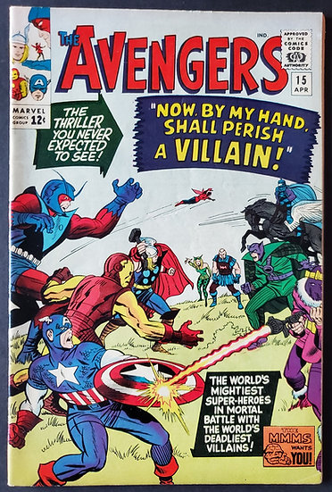 Avengers (1963 1st Series) #15 VF [Death Baronzene Black Knight App.]