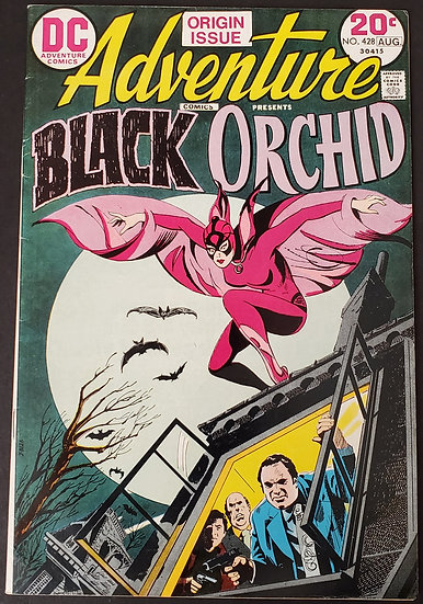 Adventure Comics (1938 1st Series) #428 VF [1st Appearance of Black Orchid.]