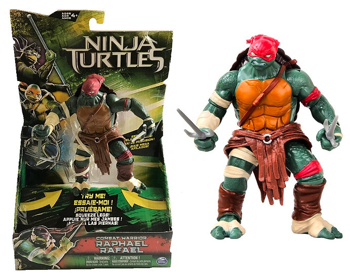 Teenage Mutant Ninja Turtle Movie Deluxe Combat Warrior Raphael Figure