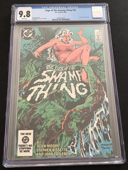 Saga Of Swamp Thing 25 CGC 9.8 1st Constantine Cameo