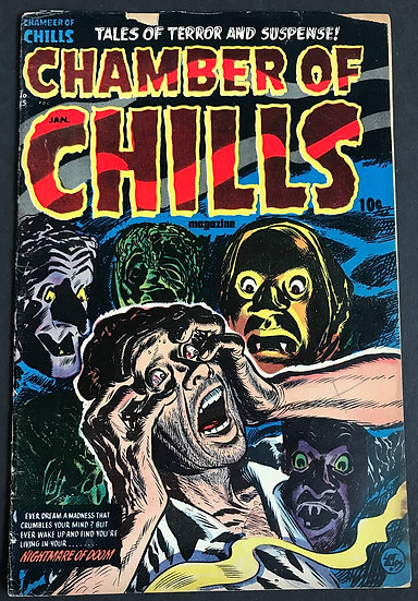 Chamber of Chills (1952 Harvey) #15 GD+