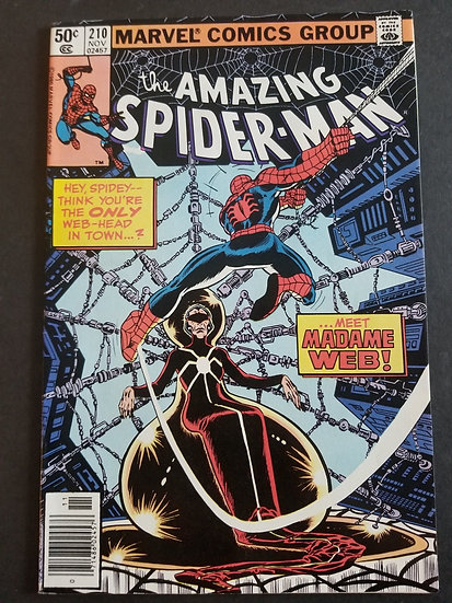 Amazing Spider-Man 210 VF. 1st Appearance Madame Web.