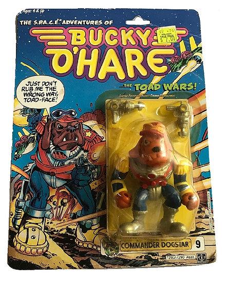 1990 Bucky O'Hare Commander Dogstar #9 By Hasbro [Cracked Bubble]