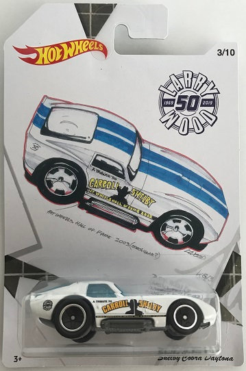 2018 Hot Wheels Larry Wood 50th Anniversary Shelby Cobra Daytona