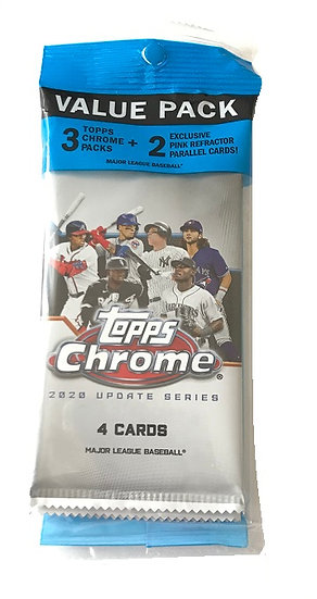 2020 Topps Chrome Update Series MLB Cards Value Cello Pack