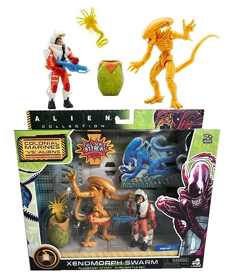 Alien Xenomorph Swarm Series Xenomorph Drone Battle Set Exclusive