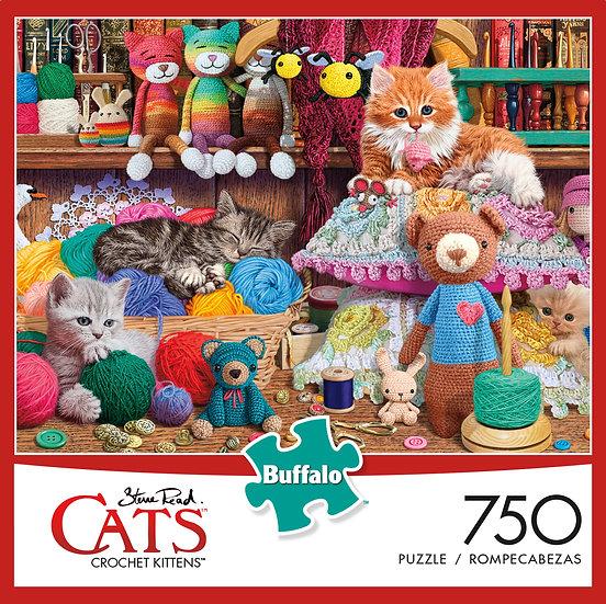 Buffalo Games Charles Wysocki Crochet Kittens 750 Puzzle