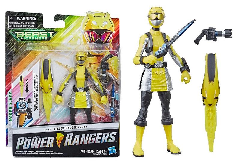 Power Rangers Beast Morphers Yellow Ranger Mode Basic Action Figure