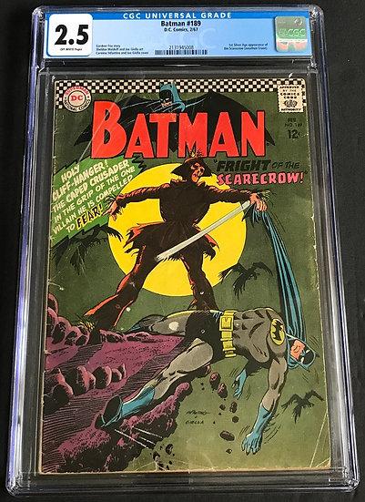 Batman #189 CGC 2.5 Off-White Pages
