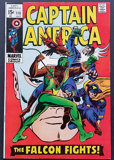 Captain America (1968 1st Series) #118 VF [2nd appearance Falcon.]