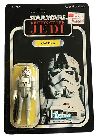 1983 ROTJ Star Wars AT-AT Driver 77 Back MOSC Unpunched