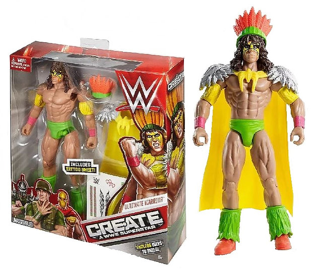 WWE Create A Superstar Ultimate Warrior is MISB.